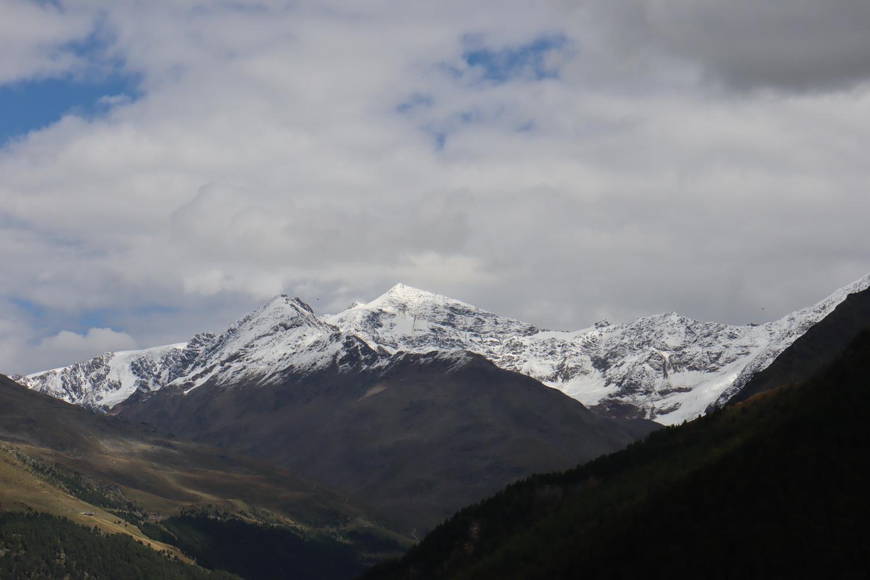 Monte Pasquale, Zufallspitze und Cevedale von Westen (Gaviapass)