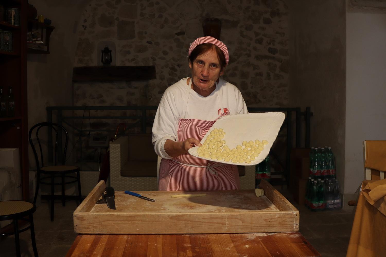 Handgemachte Orecchiette- Pasta in Vieste