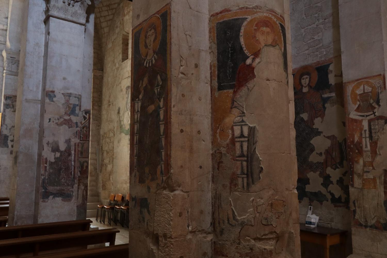 Freigelegte Fresken in Santa Maria Maggiore