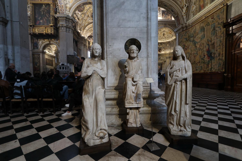Figurengruppe 14.Jh. in der Basilika S.Maria Maggiore