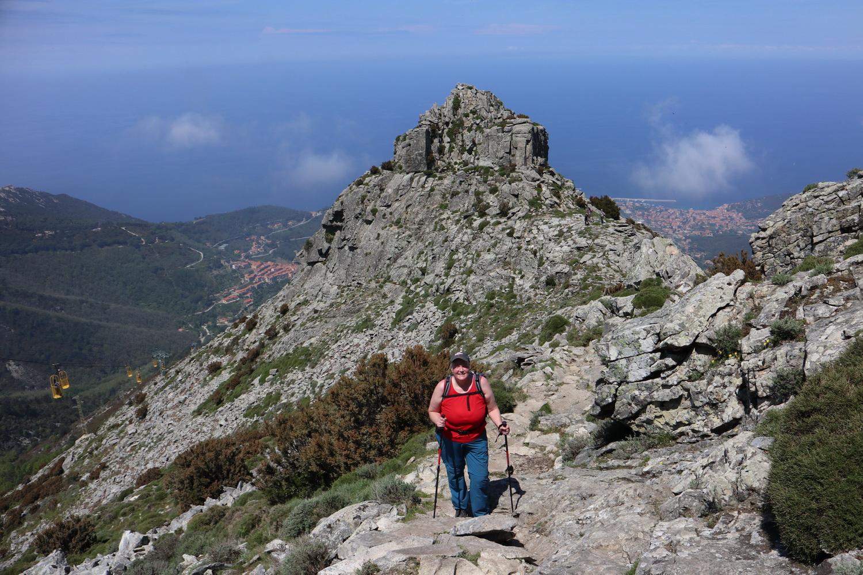Fast geschafft!- Aufstieg auf den Monte Capanne