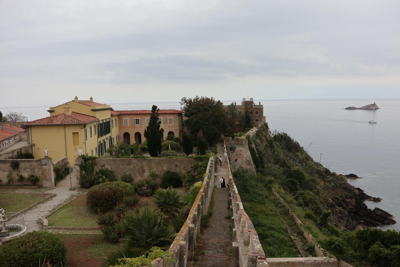 Die Villa Mulini- Vom Forte Stella aus gesehen