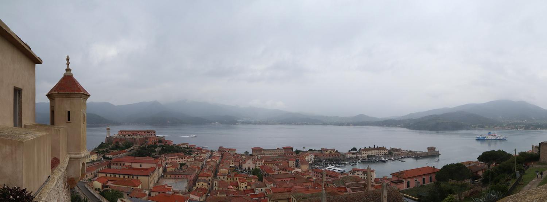 Blick auf Portoferraio vom Forte Falcone/Medicee