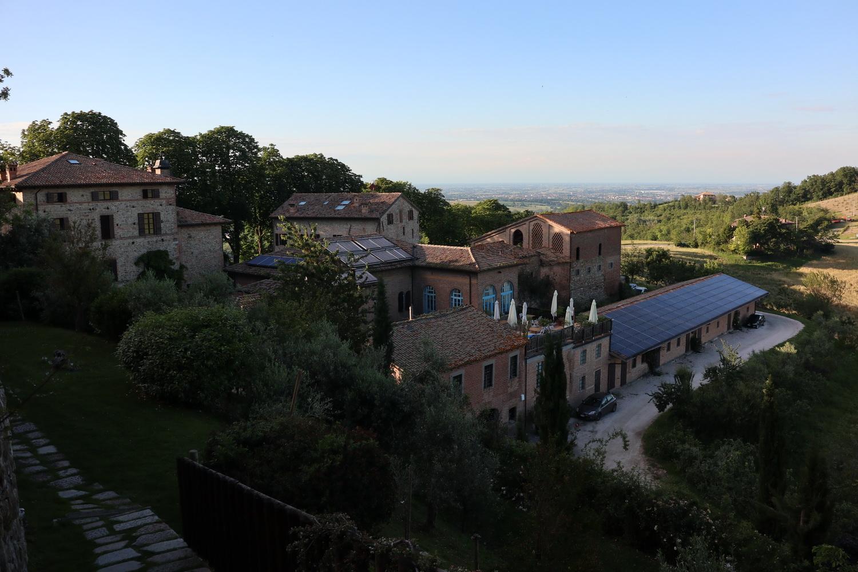 Blick von der Burg auf die ehemalige Käserei