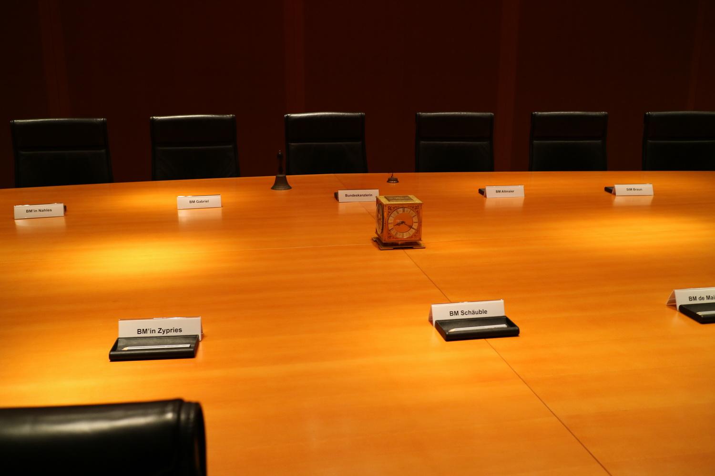 Goldene Uhr im großen Kabinettssaal