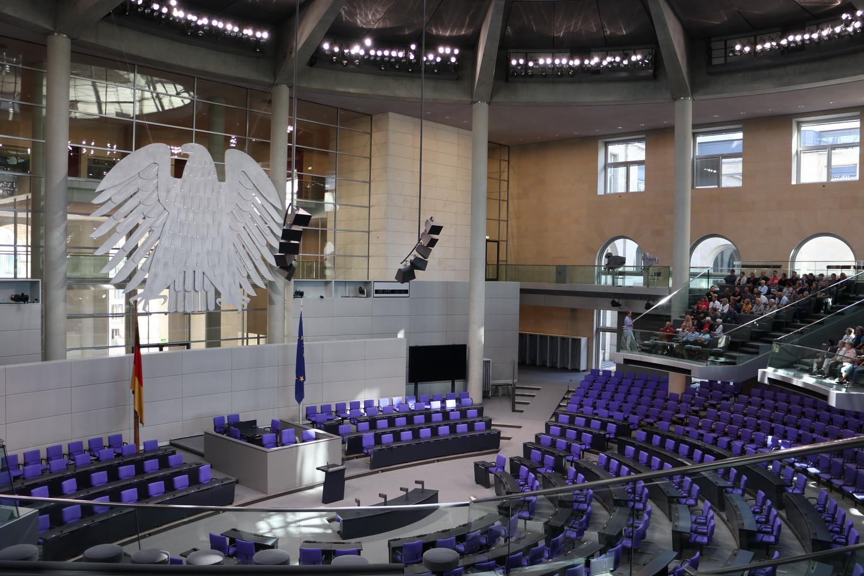 Im Plenarsaal des Deutschen Bundestags