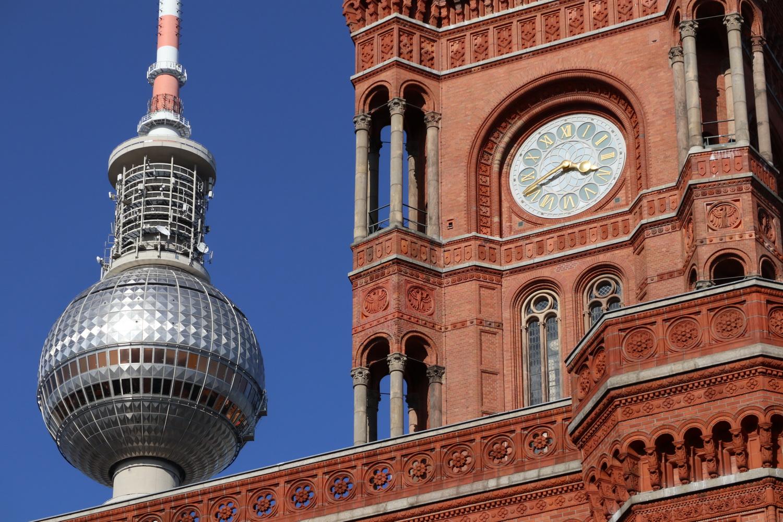 Funkturm und Rotes Rathaus