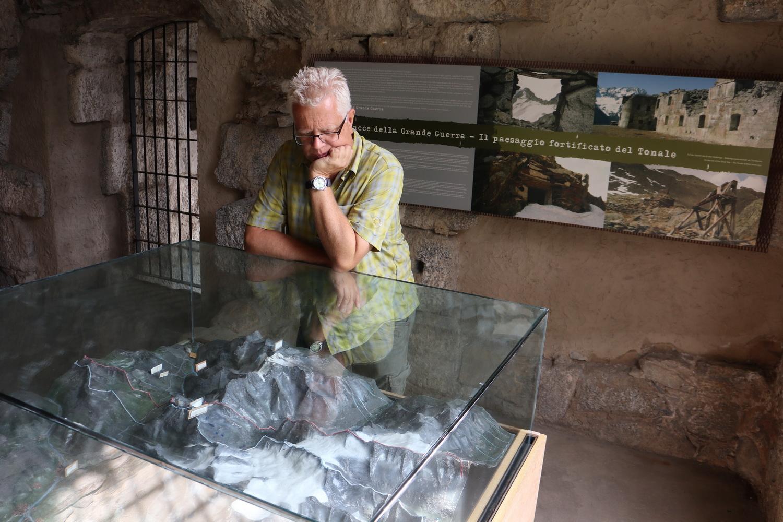 Museo Ex-Forte Strino- Modell mit dem Frontverlauf im Weissen Krieg