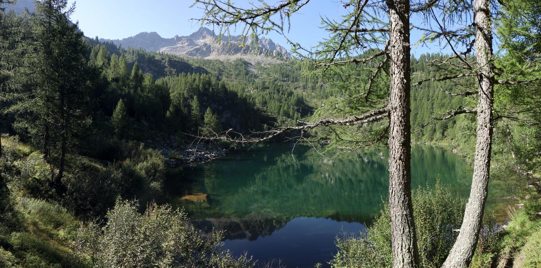 Lago di Barco beim Aufstieg zum Lago Piccolo