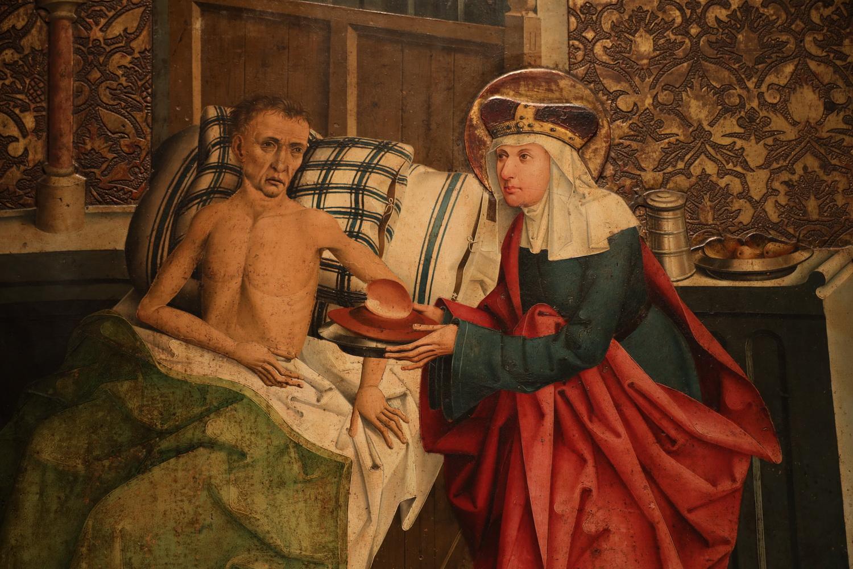 Gemälde Prag? 1482- Exponat im Agnes- Kloster