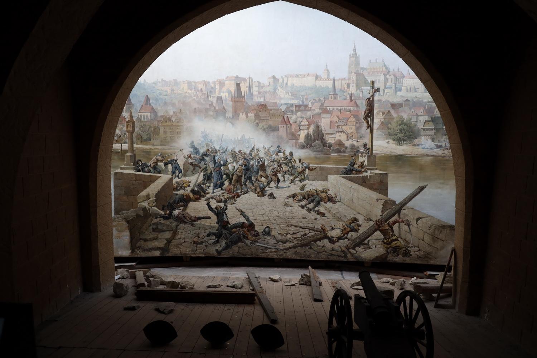 Karlsbrücke am 25. Oktober 1648