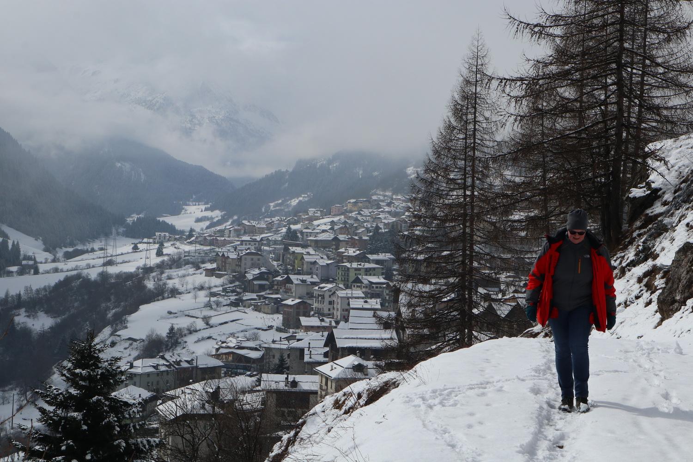 Winterspaziergang zum Croz de Ciciane