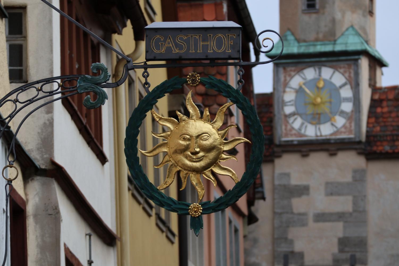 Schild in Rothenburg