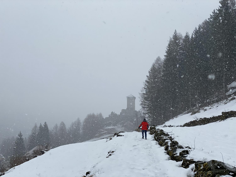 Schneewanderung nach Ossana