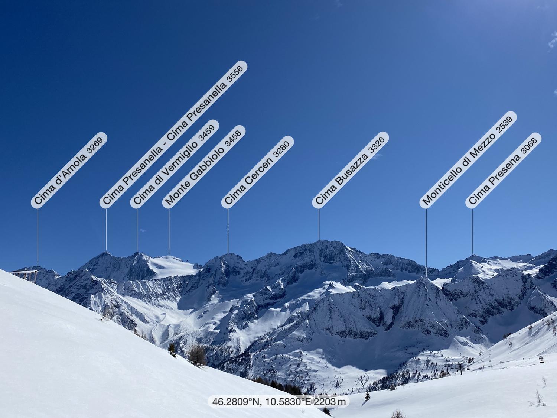 Gipfelpanorama von Norden