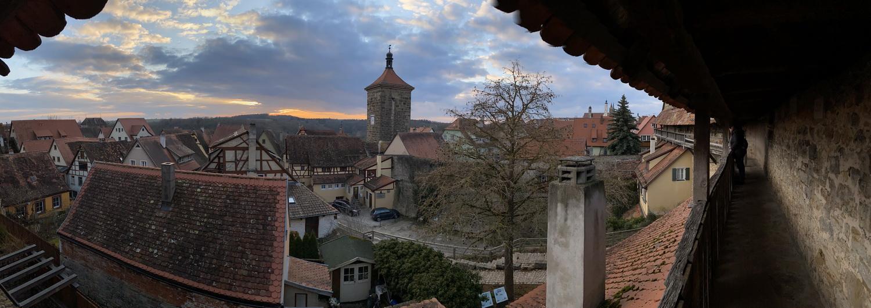 Wehrgang Stadtmauer Rothenburg