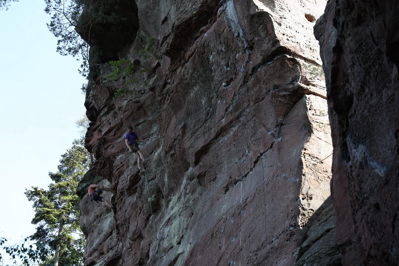 Kletter- Sport am Fensterfelsen