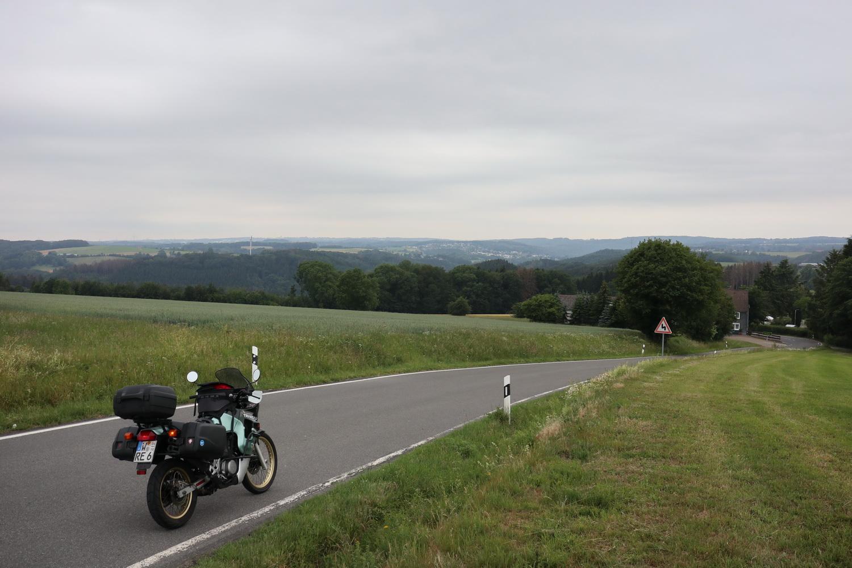 Die letzten Hügel vor Wuppertal