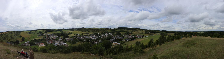Blick nach Norden vom Kalvarienberg mit Alendorf