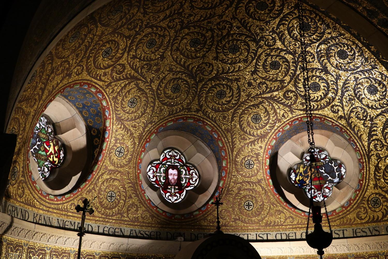 Mosaiken im Chor der Erlöserkapelle Mirbach