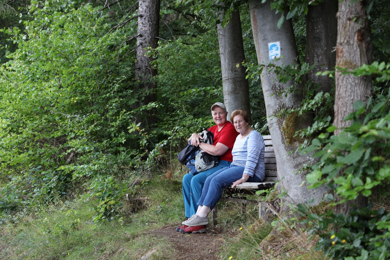 Picknick vor dem Aufstieg