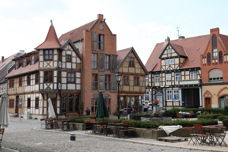Tangermünde- Fachwerk- Ensemble an der Stephanskirche