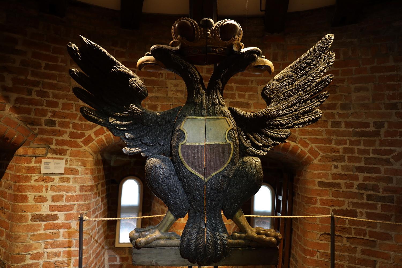 Bis 1853 am Holstentor- Der Doppeladler der Hanse- heute im Stadtmuseum im Holstentor