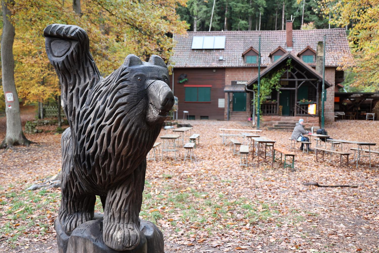 Pause an der Landauer Hütte
