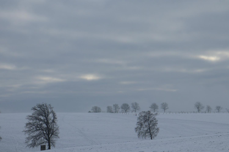 Winterlandschaft bei Blockhaus