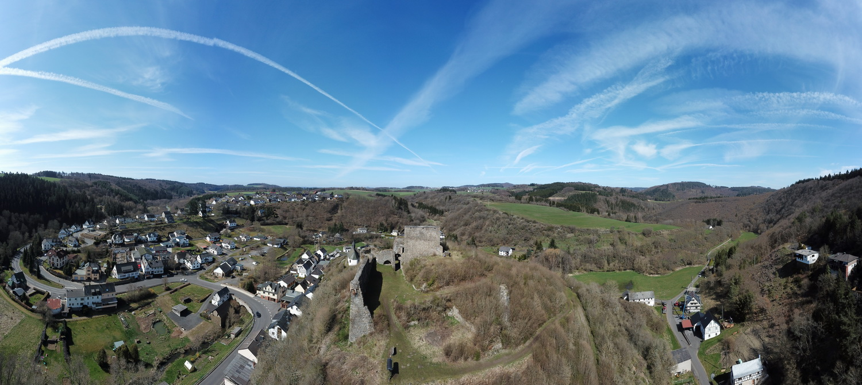 Drohnen- Panorama von Ost