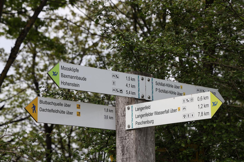 Wegauswahl am Hohenstein