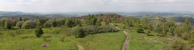 Panorama vom Eggeturm auf dem preußischen Velmerstot 468m