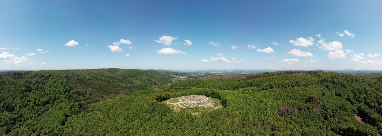 Falkenburg Panorama aus 100m Höhe