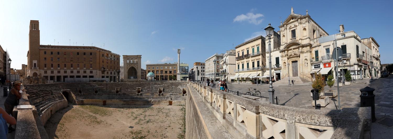 Lecce-Amphitheater- Blick Richtung Piazza Sant'Oronzo