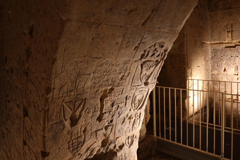 Gefängnis-Grafittis im Castello