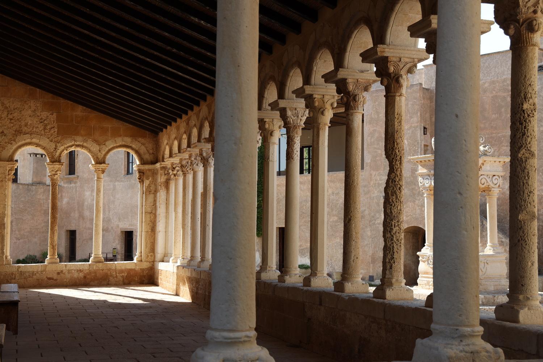Blick in die Säulenloggia