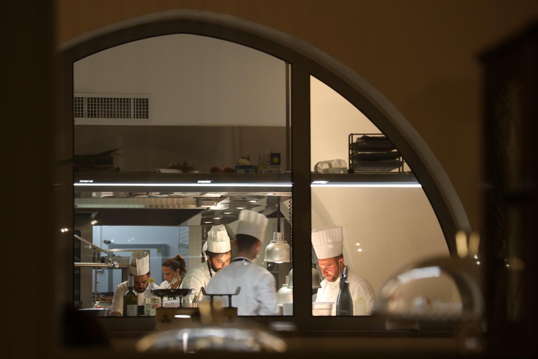 Pietro Penna mit seinem Küchenteam