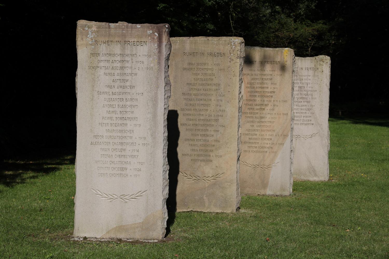 Namen auf dem Russischen Soldatenfriedhof