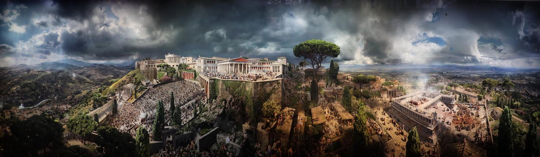 Pergamon im Jahr 129 (Das Panorama in 1D)