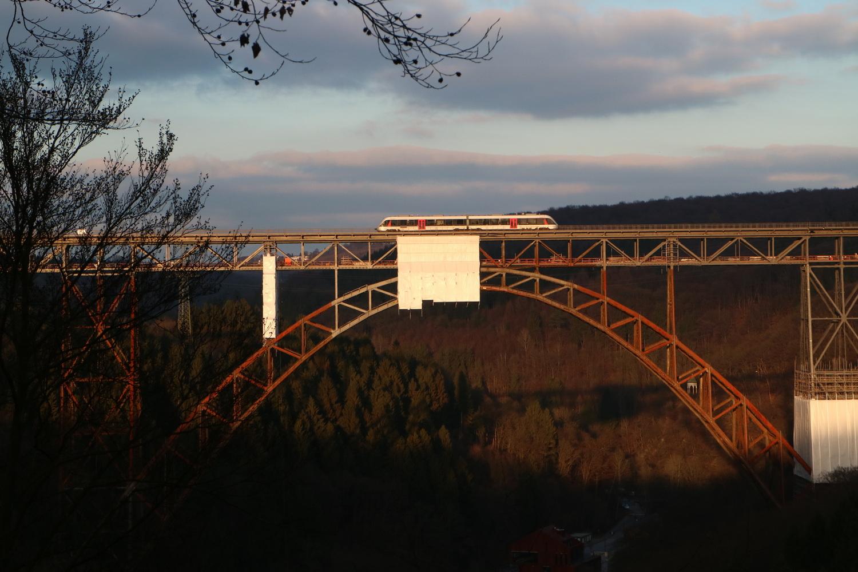 Die Müngstener Brücke vor der Sanierung im Januar 2018