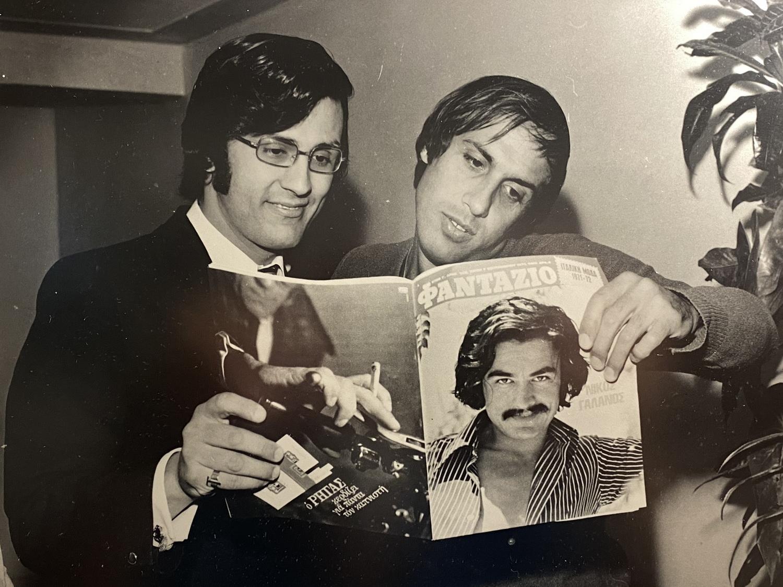 Altes Foto- Al Bano und Adriano Celentano